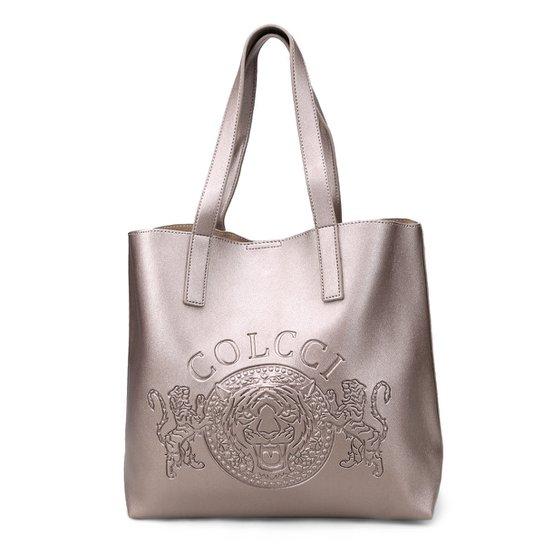 23a6864c2c776 Bolsa Colcci Shopper Brasão Feminina - Prata - Compre Agora   Zattini