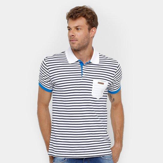 Camisa Polo Colcci Listrada Bolso Masculina - Compre Agora  415a4652ed576