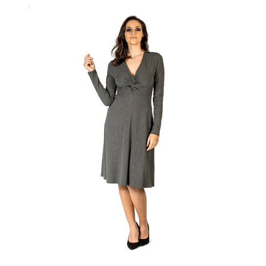 9aa3f4ab1 Vestido Midi Slim Colcci - Cinza - Compre Agora