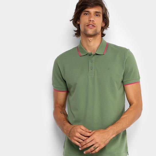 Camisa Polo Forum Piquet Frisos Color Masculina - Verde escuro ... 074a200c52d1f