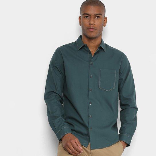 Camisa Manga Longa Forum Slim Fit Bolso Masculina - Compre Agora ... 3204cc87288aa