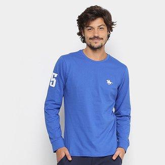 8b2ce6a029 Camiseta RG 518 Básica Manga Longa com Bordado Masculina
