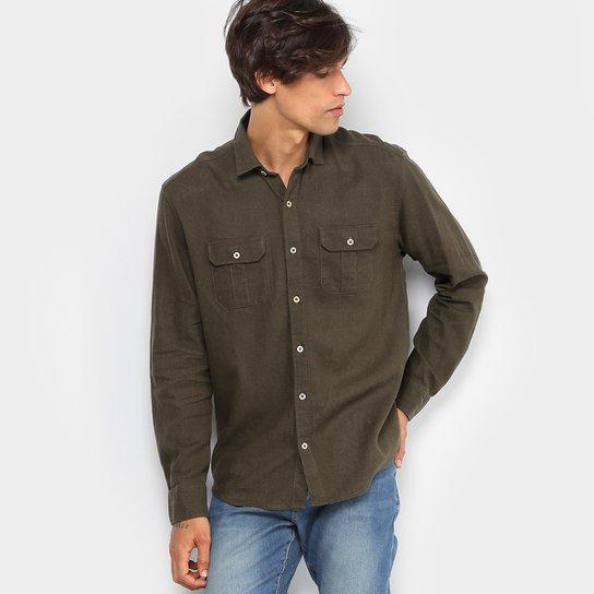 Camisa Foxton Linho Bolsos Masculina - Compre Agora   Zattini 82ce9ba869