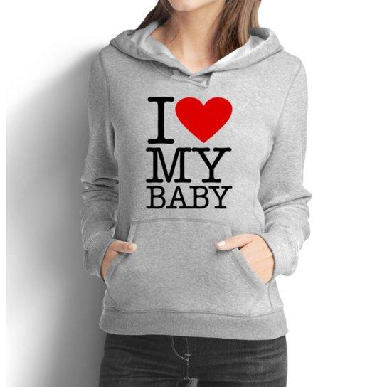 401feefe56 Moletom Criativa Urbana Gestante Mamãe Love Baby - Cinza - Compre ...
