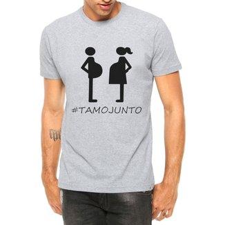 99ff51ab0 Camiseta Criativa Urbana Papai Tamo Junto Grávidos Manga Curta