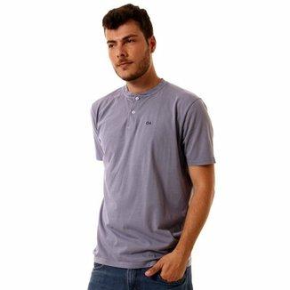 d57ca717fe Camiseta Oitavo Ato Henley Stone Masculina