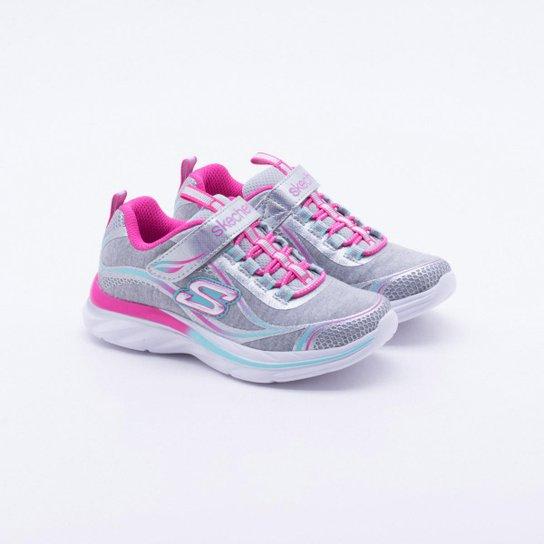 f92b7023ba Tênis Infantil Skechers Quick Kicks Feminino - Cinza - Compre Agora ...