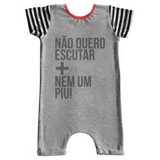 daadec38e Macacão Infantil Curto Comfy Nem Um Piu