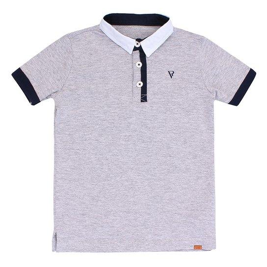 0ae425f343 Camiseta Polo Peitilho Diferenciado - Cinza - Compre Agora