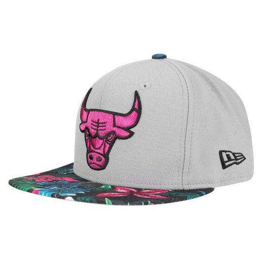 Boné New Era NBA 950 Of Sn Gray Black Floral Chicago Bulls - Compre ... e4bb07cdca1
