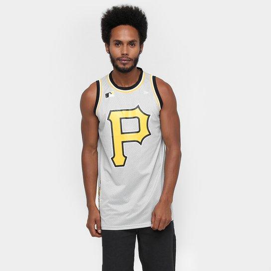 685e7d384f406 Camiseta Regata New Era MLB Bascket Nova Pittsburgh Pirates - Compre ...