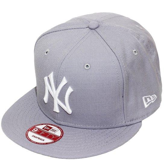da36b795a6ef1 Boné New Era Aba Reta Snapback Mlb Ny Yankees Basi - Compre Agora ...