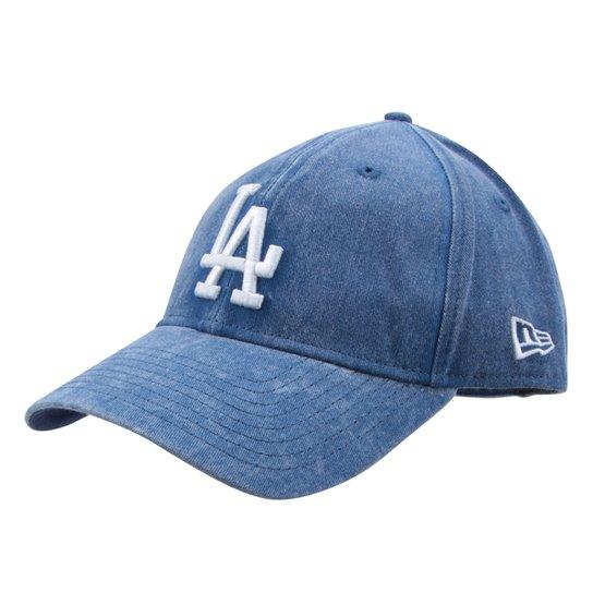 Boné New Era MLB Los Angeles Dodgers Aba Curva 920 St Rugged Wash - Azul  Royal be16313e8e8