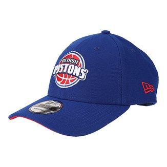 Boné New Era NBA Detroit Pistons Aba Curva Primary e57bdfc6b86