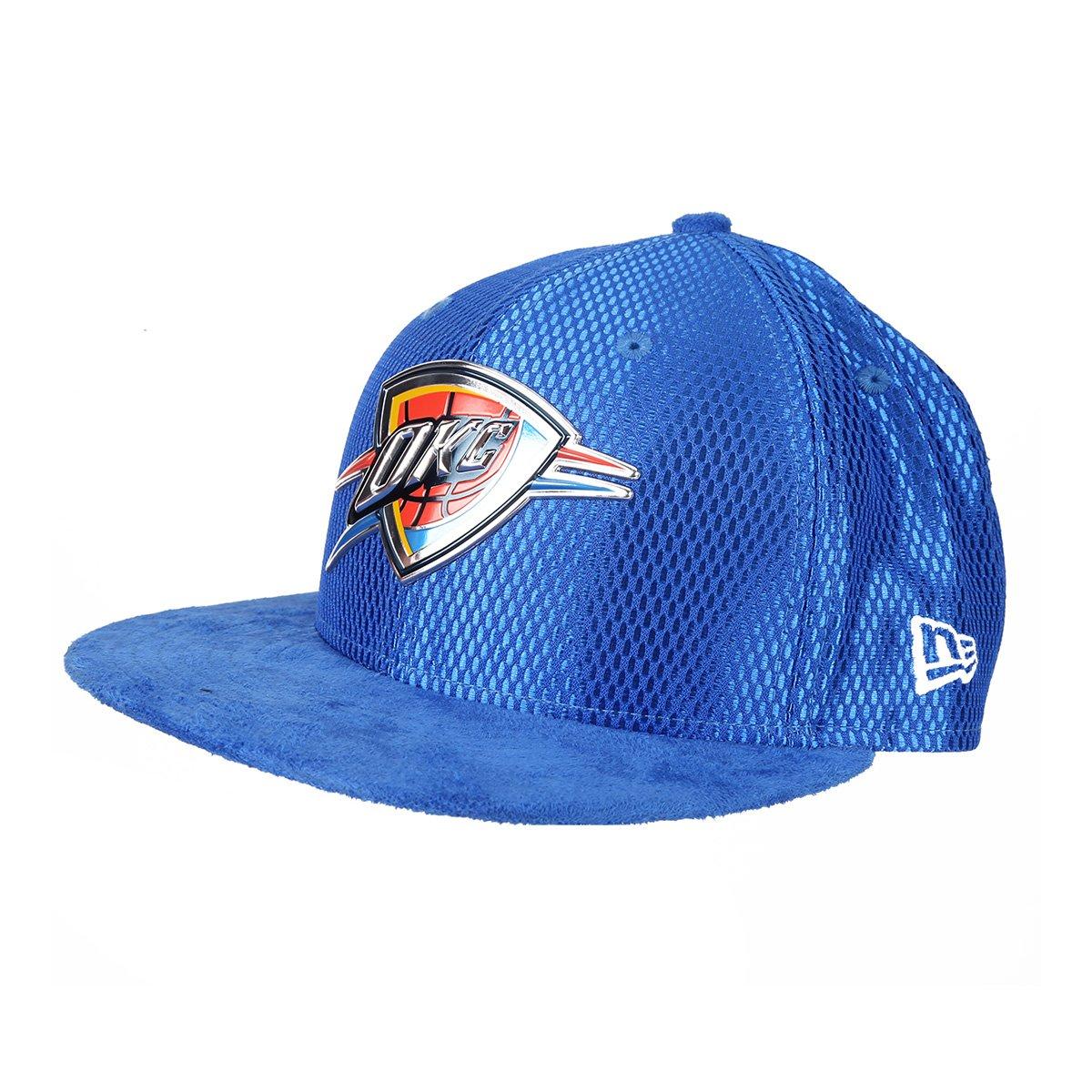 Boné New Era NBA Oklahoma City Thunder Aba Reta 950 SN 17 9dc803024a6