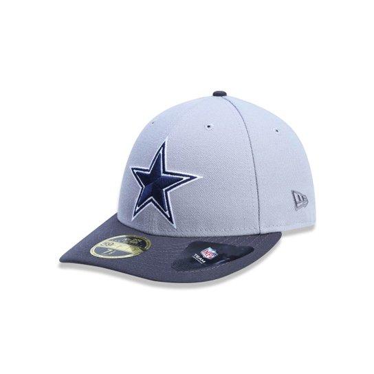 Boné 5950 Dallas Cowboys NFL Aba Reta New Era - Cinza - Compre Agora ... 8db623607a2