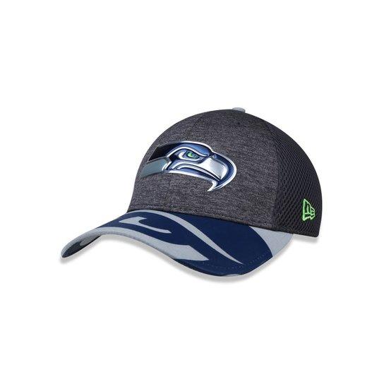 3275acc201486 Boné 3930 Seattle Seahawks NFL Aba Curva New Era - Cinza - Compre ...