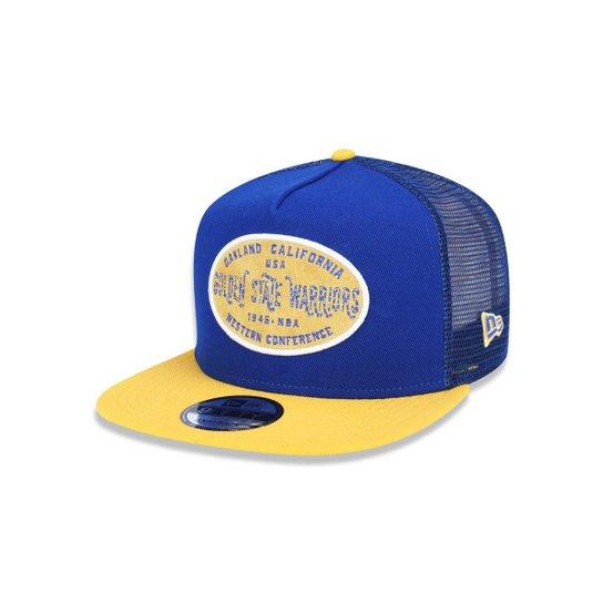 Boné 950 A-frame Golden State Warriors NBA New Era - Azul Royal ... 7326ba2f0a3