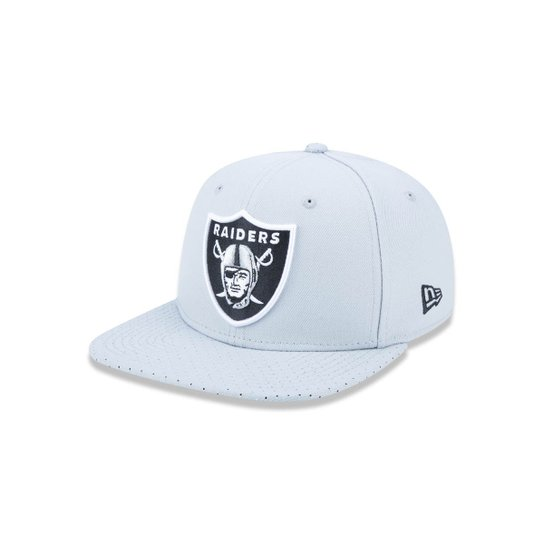 1d10b0930e481 Boné 950 Original Fit Oakland Raiders NFL Aba Reta Snapback New Era - Cinza