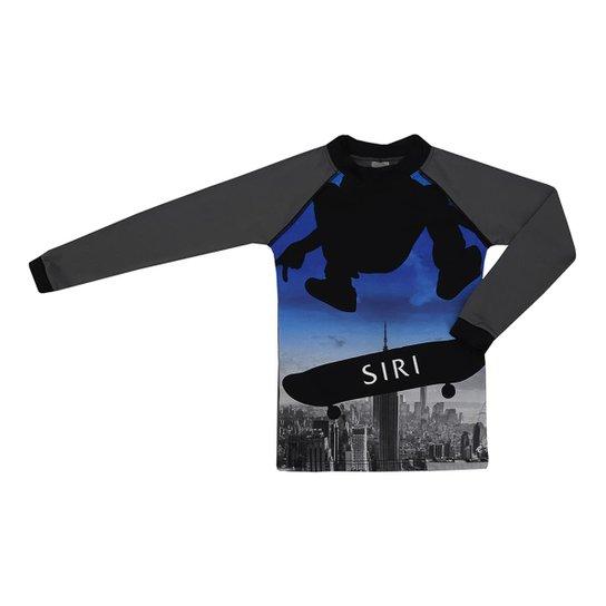 Camiseta Infantil Kids Lucca Estampa Skate Siri Masculina - Cinza ... 317cb7d93818a