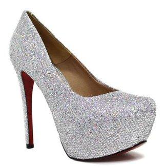 a4fa43fdf Scarpin Zariff Shoes Pump Glitter