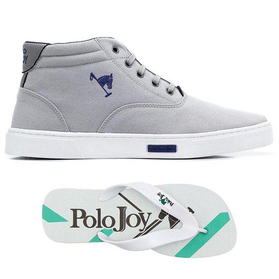 Kit Sapatênis + Chinelo Polo Joy Masculino - Cinza - Compre Agora ... 2dd3641698445