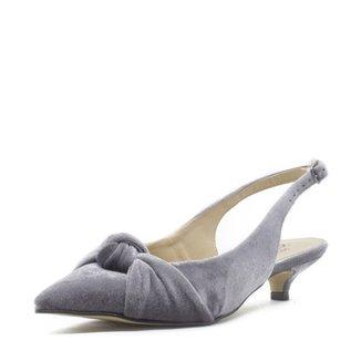 45c13fdc58 Scarpin Shoes INBOX Slingback Low Heel Veludo Feminino