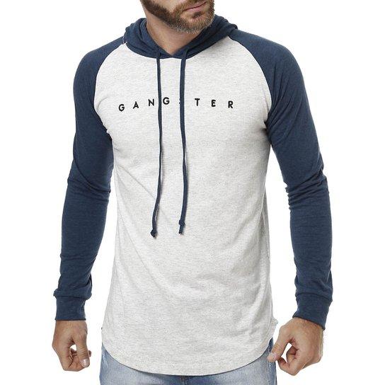 Camiseta Manga Longa Masculina Gangster Cinza - Compre Agora  99b2e3f0de1