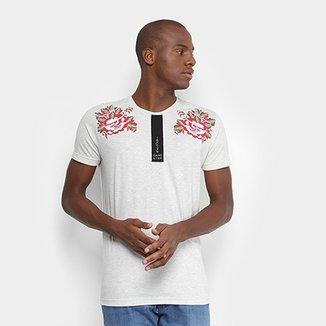 2f0beb60d16 Camiseta Gangster Estampa Flores Masculina