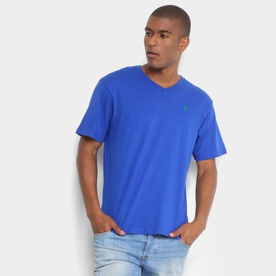 5dcc02720 Camiseta U.S. Polo Assn Gola V Masculina - Azul Royal - Compre Agora ...