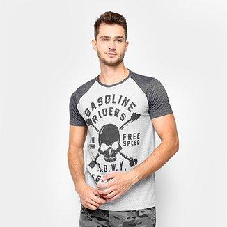 efc67771af Camiseta Estampada Sideway Raglan Masculina
