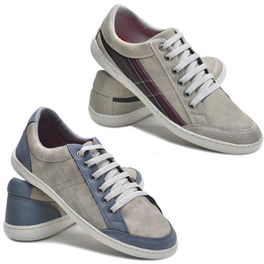 96be35ddcd9 Kit 2 Pares Sapatênis Dec Shoes Tênis Casual Masculino - Cinza ...