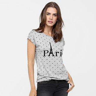 Camiseta Facinelli Coração Paris 013c8dfc9aa