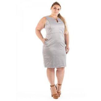 cb465295e Vestido Confidencial Extra Plus Size Urban Satin Cetim