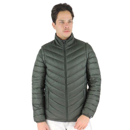 ff6b774ca7b4f Jaqueta Masculina 2 em 1 (jaqueta e colete) de Pluma Ultralight Alpine -  Verde
