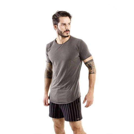 Camiseta Longline Brohood Curve Snake Masculina - Cinza - Compre ... 9eeffa13f51