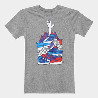 Camiseta Infantil Nike B Nsw Tee Sneaker Pile Masculina 47763a8daa302