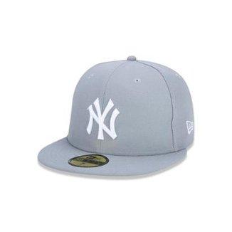 Bone 5950 New York Yankees MLB Aba Reta Cinza New Era 2feffd01534