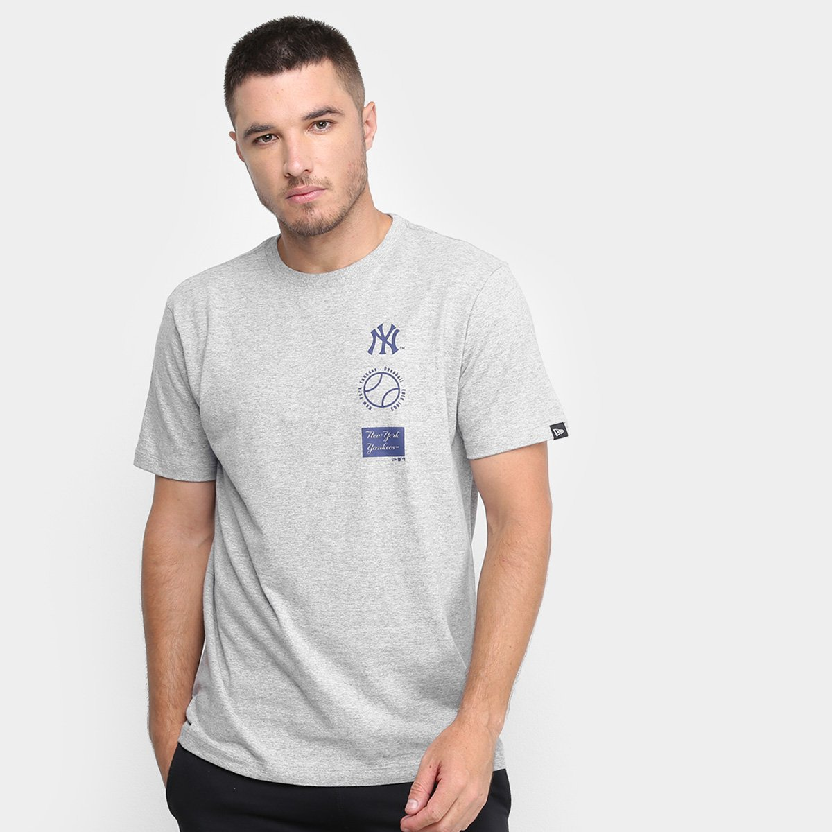 Camiseta New Era MLB New York Yankees Essentials Baseball Masculina