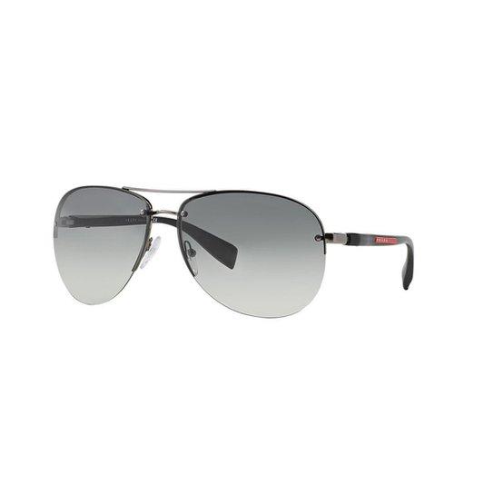 02d4b1914b709 Óculos de Sol Prada Linea Rossa PS 56MS Sunglass Hut - Cinza ...