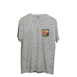 8b18cf6a84 Camiseta BSC Flowers Leaves Pocket Sublimada Masculina