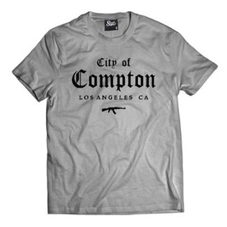 5925b7b743e0e Camiseta Skull Clothing City of Compton Masculina