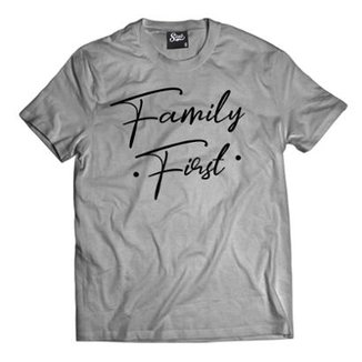 703d16d1204 Camiseta Skull Clothing Family First Masculina
