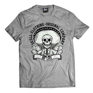 417357814 Camiseta Skull Clothing No Lies Masculina