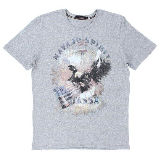 ad76abb7b8 Camiseta Tassa 23118 Masculina - Cinza - Compre Agora
