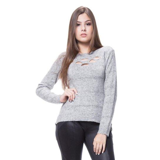 Blusa Corporio Tricot Furos - Compre Agora   Zattini 36c8f85c96