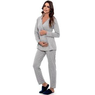 c2ae7b7d8 Pijama Longo Gestante Ltm Luna Cuore