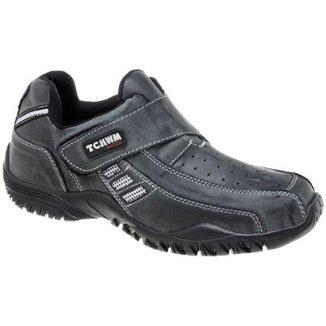 acafd21ab0 Sapatênis de Couro Tchwm Shoes com Fechamento em Velcro