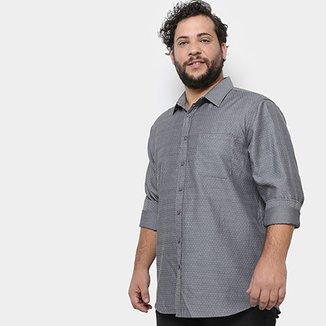 d14718d41a Camisa Social Delkor Plus Size Masculina