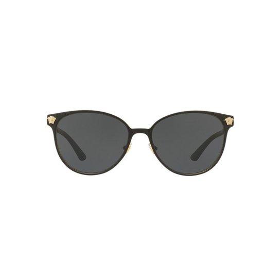 4165ac84942f9 Óculos de Sol Versace Redondo VE2168 Feminino - Cinza - Compre Agora ...